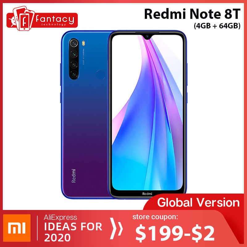 Wersja globalna Xiaomi Redmi Note 8 T 8 T 4GB RAM 64GB ROM Snapdragon 665 octa core 6.3 ''48MP Quad Camera 4000mAh 18W QC NFC