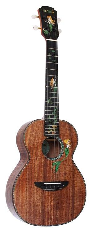 Укулеле Mr.mai Mermaid, 26 дюймов, тенор, твердый коавуд ручной работы, 4 струны, гитара с глянцевой отделкой, Жесткий Чехол/каподастр/тюнер/ремешок 6