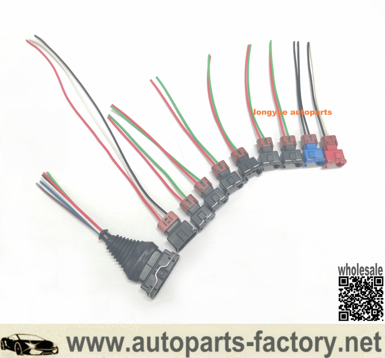 Longyue Fuel Injector MAF TPS Wiring Harness Connector Kit For Nissan 300zx Z31 84-87