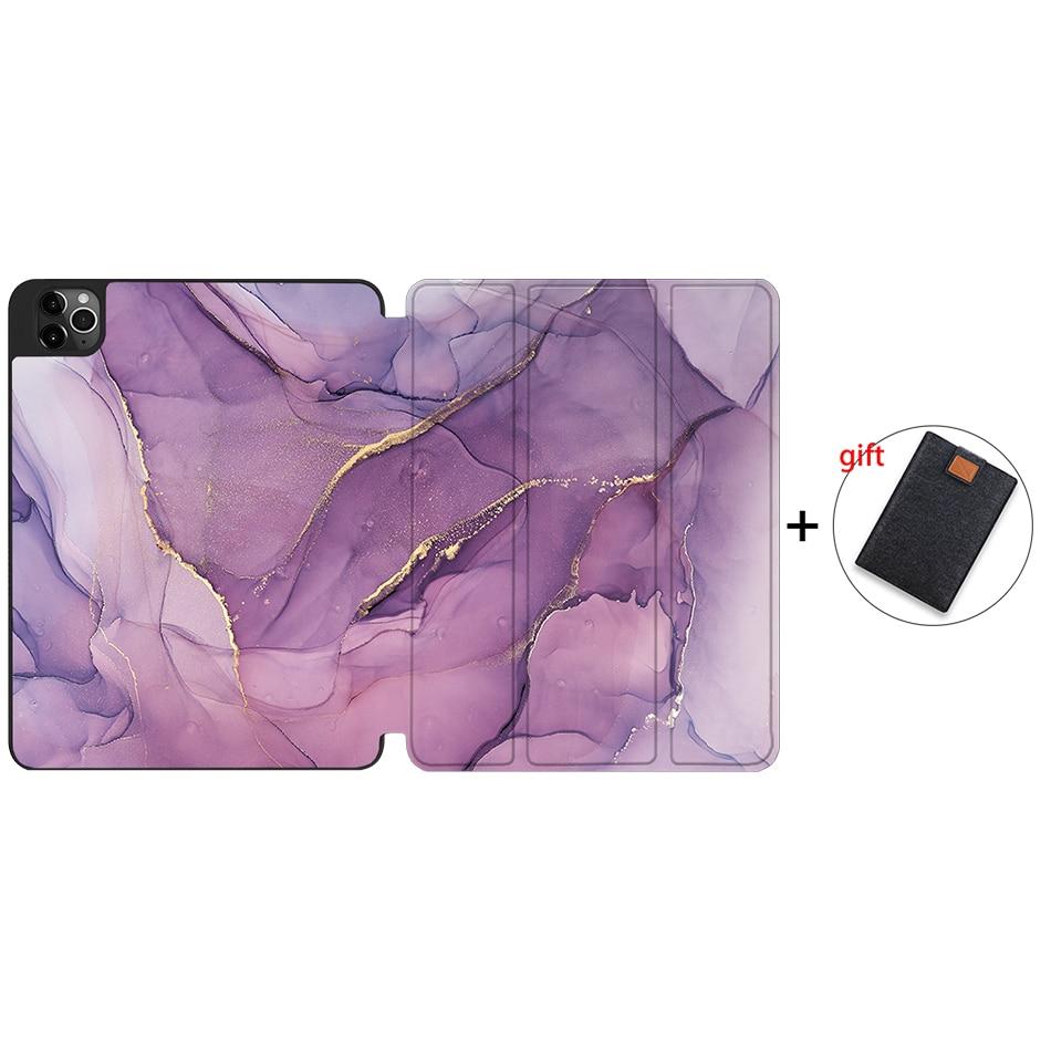 IPTPU04 Blue MTT Case For iPad Pro 12 9 inch 4th Generation Tablet 2020 Soft TPU PU Leather