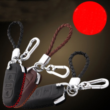 Lsrtw2017 Cow Leather Car Key Bag Protective for Peugeot 3008 5008 2019 2020