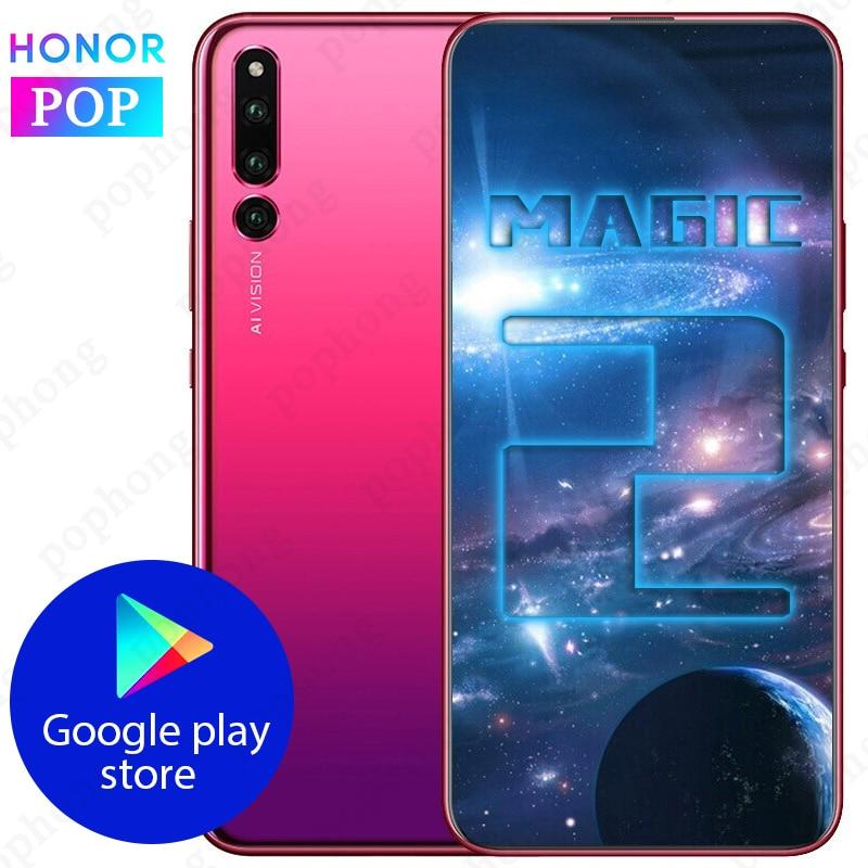 Original HONOR Magic 2 Mobile Phone 6.39 Inch 8GB 128GB Kirin 980 Octa Core Android 9.0 In-Sceen Fingerprint