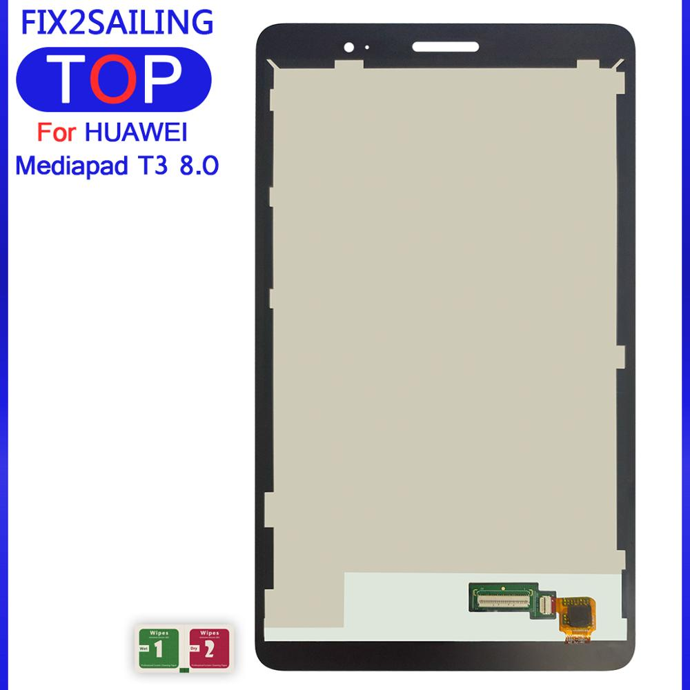 Repuesto de pantalla LCD 100% para Huawei Mediapad T3 7 8,0 10, montaje de digitalizador con pantalla táctil, reemplazo para HUAWEI T3, 8 pulgadas