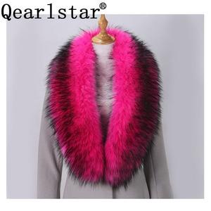 Image 2 - Qearlstar Faux Furผ้าพันคอSupreยาวหรูหราแจ็คเก็ตเสื้อสำหรับสตรี120*20ซม.Mufflerตกแต่งอบอุ่นผ้าคลุมไหล่wraps ZKG16