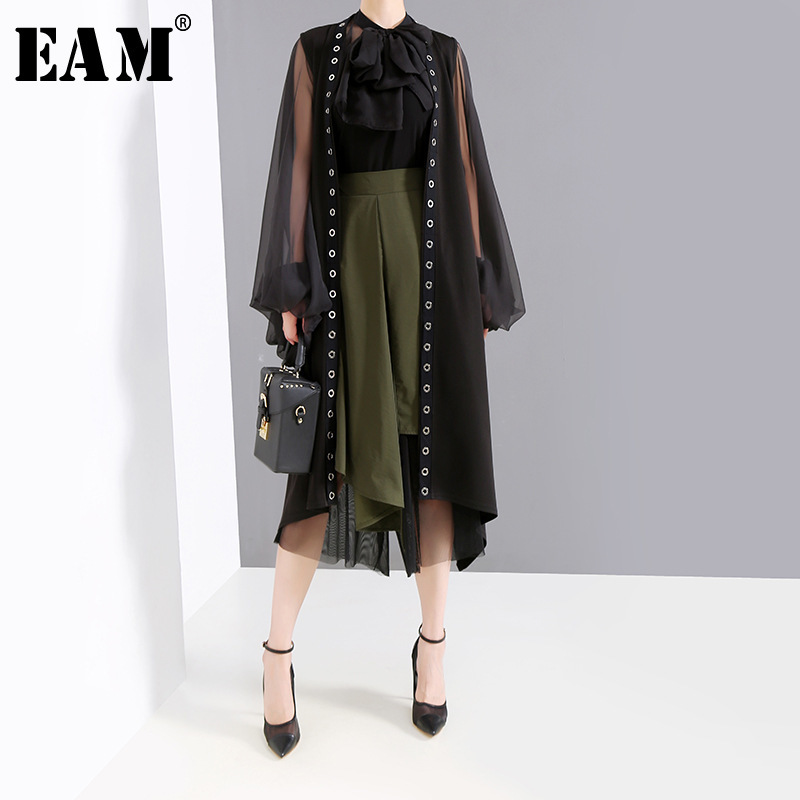[EAM] Women Loose Fit Brief Personality Temperament Solid Vest New Lapel Collar Sleeveless Fashion Tide Spring Autumn 2019 JY885