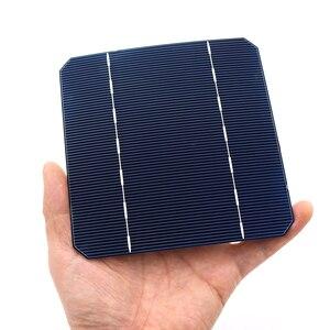 Image 4 - 10 40 50 100 Pcs 2.8 W 125 x 125MM Cheap Mono Solar Cells 5x5 Grade A monocrystalline PV DIY Photovoltaic Sunpower C60 Solar Pan