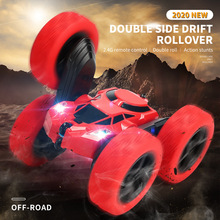 Vehicle-Toys RC Car Car-Stunt Rock Crawler Led-Light Drift-Deformation Radio-Control-Roll