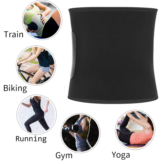 Neoprene Waist Trainer Belt Sweat Waist Trimmer Slimming Corset Xtreme Belt Modeling Strap Body Shaper Tummy Fajas For Men Women 4