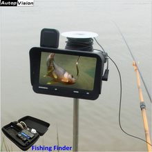 "Fish Finder 20M/30M Cable 4.3"" LCD Monitor Night Vision Dual Lens Video 2.0mp Ice Underwater Fishing Camera Video Recorder X2B(China)"