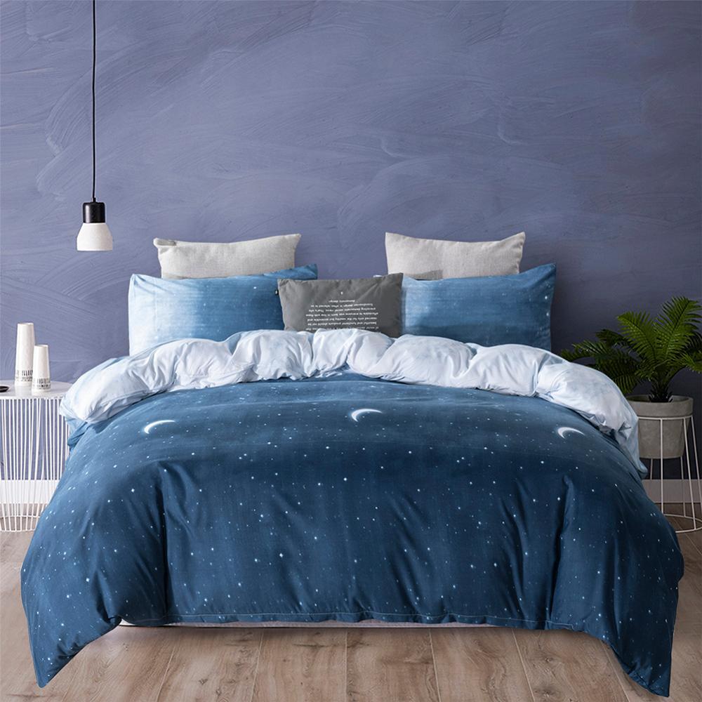 Dreamy Moon Star comforter bedding set bed linen set Queen King duvet cover set Bedclothes Quilt Cover + Pillowcase Home Textile