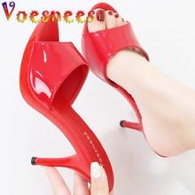 Candy Color Fine Heel 2021 Summer Slipper 9cm 13cm Slides Platform Sandal Thick Bottom Sexy for Women Shoes Modern Slippers