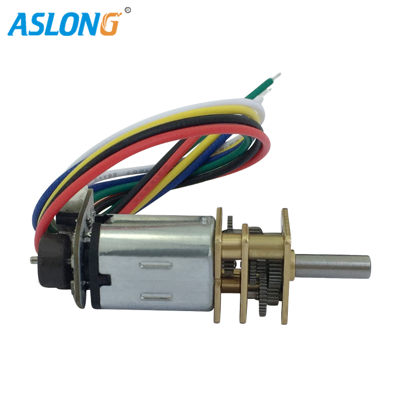 2PCS/LOT 6V <font><b>N20</b></font> <font><b>encoder</b></font> Mini Gear Motor DC Electric Motor For Bicycle <font><b>n20</b></font> dc gear box motor 39-1300rpm <font><b>N20</b></font> dc motor gear box image