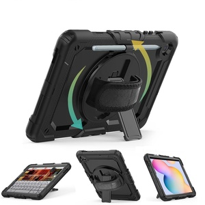 360 correa de mano funda de protección para Samsung galaxy tab S6 Lite 10,4 fundas 2020 Tablet cubierta para Samsung S6 Lite SM-P610 SM-P615