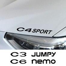 Pegatina de coche para Citroen Berlingo, C1, C2, C3, C4, C4L, C6, C8, c-crosser, C-ELYSEE, Jumpy, Nemo, PICASSO, Xsara, VTS, accesorios para coche, 4 Uds.