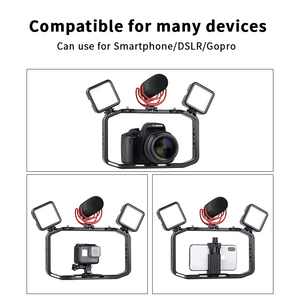 Image 3 - Universal DSLR Gopro Smartphone Handheld Video Rig Vertical Shooting Rig for iPhone XS 11 Pro Max X 8 Gopro 5 6 7 8  DSLR Camera