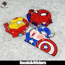 KEINE. l092 Marvel Avengers DC Q Charaktere Lustige 3M Reflektierende Aufkleber MOTO GP Auto Glas Aufkleber Wasserdicht Aufkleber Racing Moto