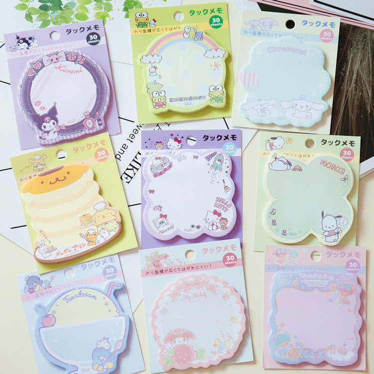 1Pc Cute Cartoon Melody Shape Stickers Leave Messages Notebook Memo Pads