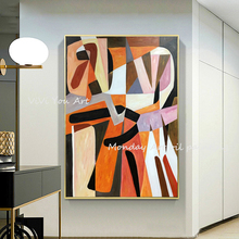 Wall art Hand painted original Contemporary abstract oil painting wall Art home decor Geometric for living room