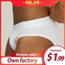 ORLVS Brand Men Underwear Sexy Briefs Men Breathable Slip Homme Cueca Tanga Male