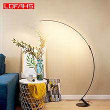 LOFAHS moderne blanc brun lampadaire Led minimalisme en aluminium lampadaire pour salon hôtel chambre dhôtes porche décoration lumière