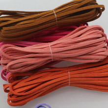 Acessórios para fazer pulseira de couro, 5m, corda de couro feitos à mão, colar, corda dupla face, suede, couro, joias, acessórios