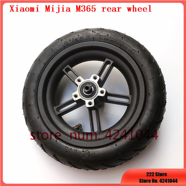 8 1/2x2 tyre Pneumatic tire Inner Tube with alloy hub kit for Xiaomi Mijia M365 Electric Scooter Special purpose rear wheels