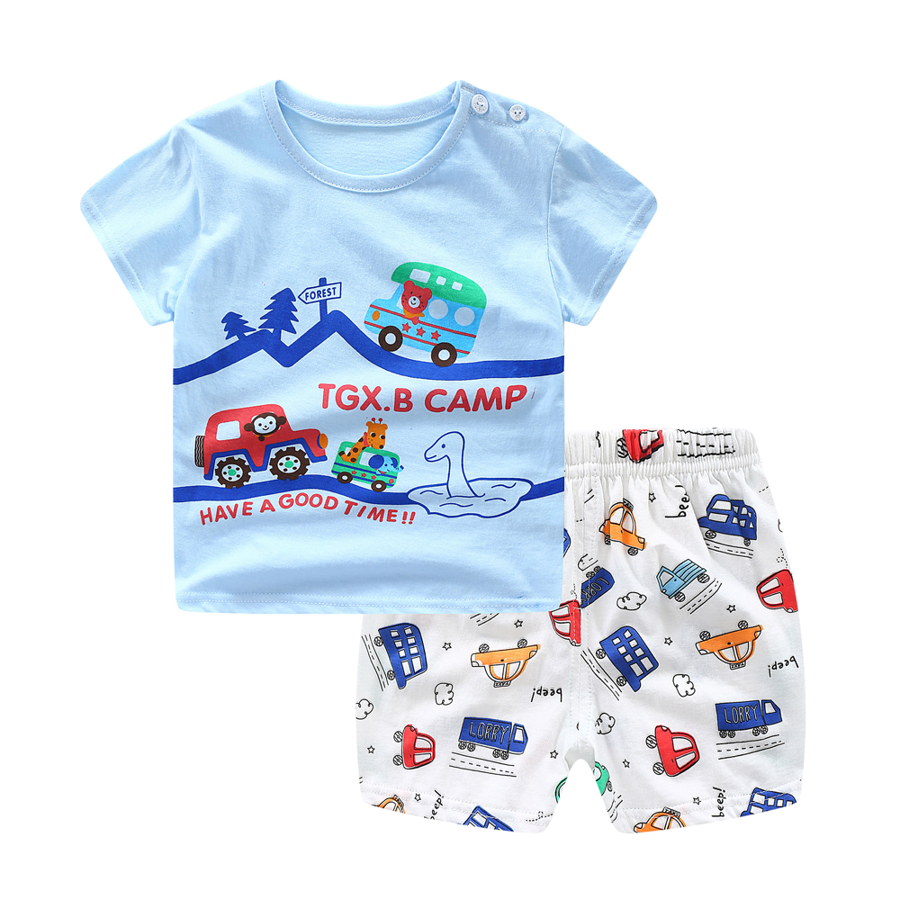 Baby Boys Clothes Summer Toddler Baby Girls Short Sleeve Letter Print T-Shirt Tops+Shorts Casual Outfits Sets Chidlren Clothes