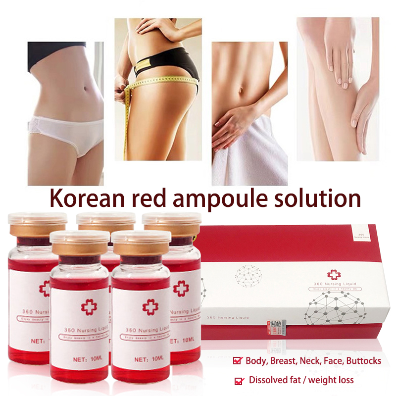 10ml KoreaThe RED Ampoule Solution Atomizer Hyaluron Pen Hyaluronic Gun Fat Dissolve Skin Firming Lipolytic Solution Weight Loss