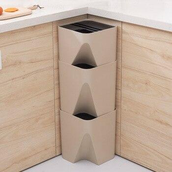 1 шт. пластиковая урна для мусора стек переработка мусорного ящика система разделения отходов 15л настенные контейнеры мусорное ведро для ку...