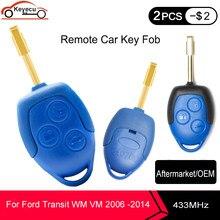 Aftermarket / OEM дистанционный ключ-брелок от машины 3 Button 433MHz 4D63 Chip для Ford Transit WM VM 2006 -2013 2014 P/N: 6C1T15K601AG