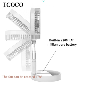 Image 4 - New folding telescopic mini fan USB rechargeable student portable small electric dormitory bed office desktop large wind battery