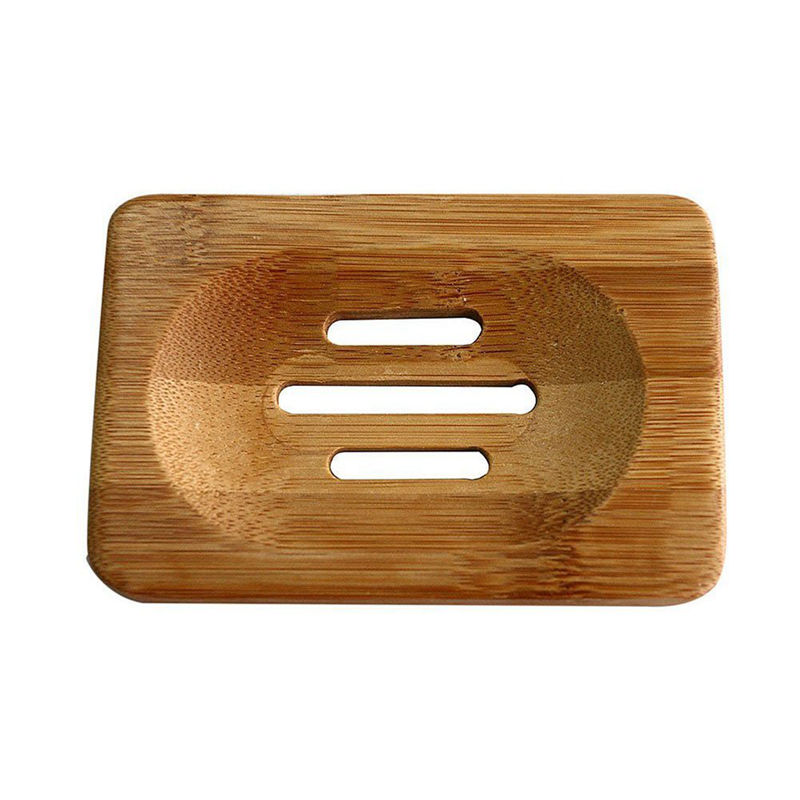 Hot Sale Natural Bamboo Soap Dish Storage Holder