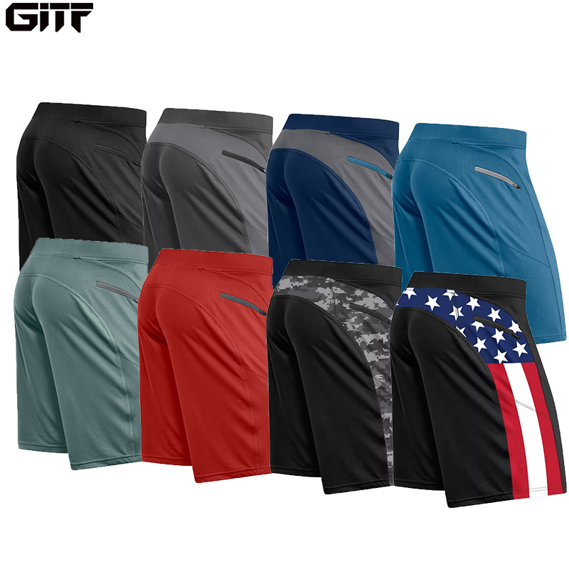 GITF 2020 Sports Training Running Shorts Men Fitness Stitching Gym Outdoor Zipper Shorts Quick-drying Male Beach Shorts
