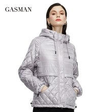 Ladies Jackets GASMAN Parka Short Women Coat Thin Warm Fashion Cotton NEW Classic Casual