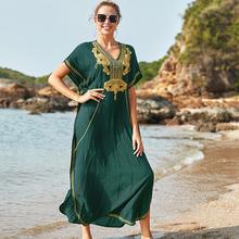 100 bawełna długa plaża sukienka plaża Coverups dla kobiet Pareo de Plage strój kąpielowy Cover up plaża Sarongs stroje kąpielowe Kaftan plaża # N660 tanie tanio LORYLEI COTTON Rayon CN (pochodzenie) Drukuj Młody styl Czeski Osób w wieku 18-35 lat Pasuje większy niż zwykle proszę sprawdzić ten sklep jest dobór informacji