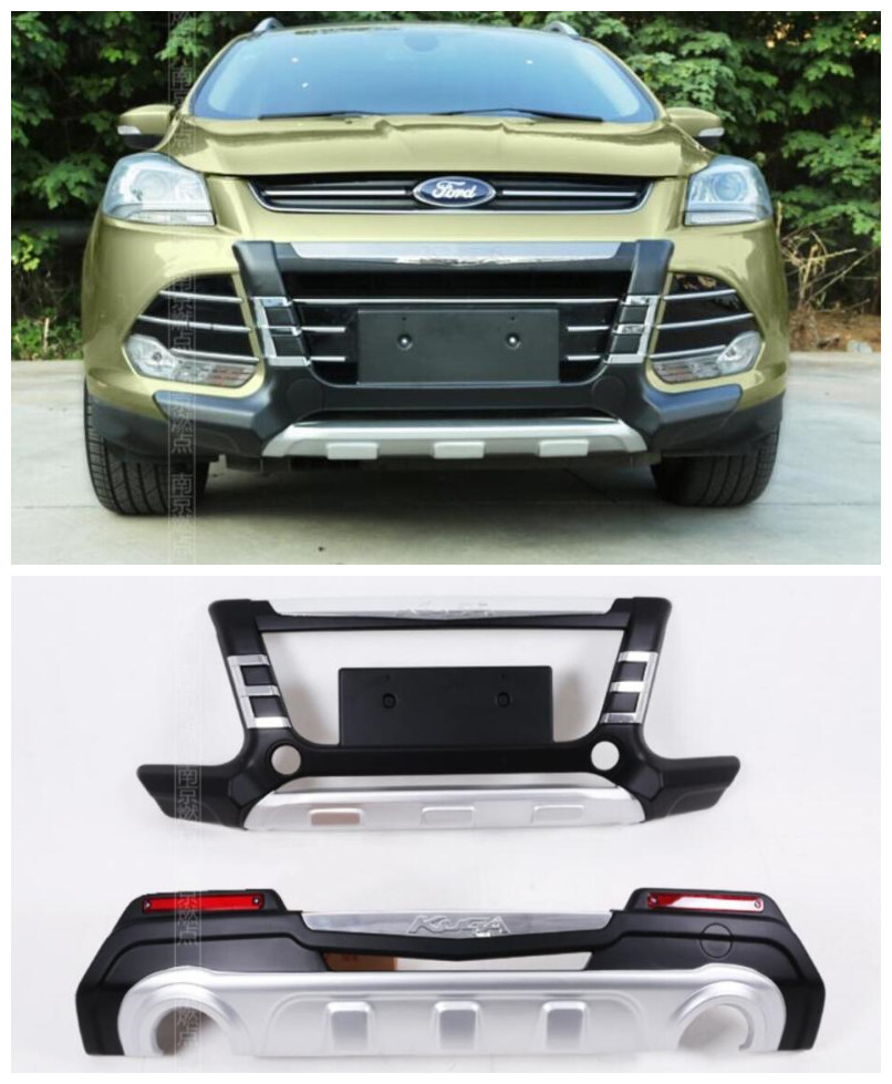 ABS Car Front+ Rear Bumper Protector Cover Guard Skid Plate Fits ...