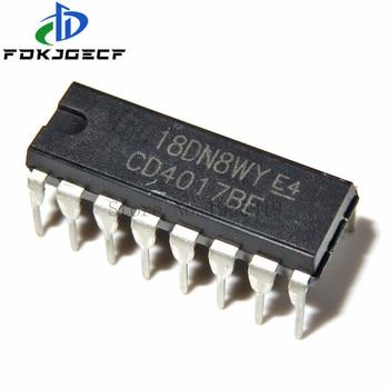 10pcs/lot CD4017 CD4017B DIP-16 CD4017BE DIP 4017 IC new original free shipping - sale item Active Components