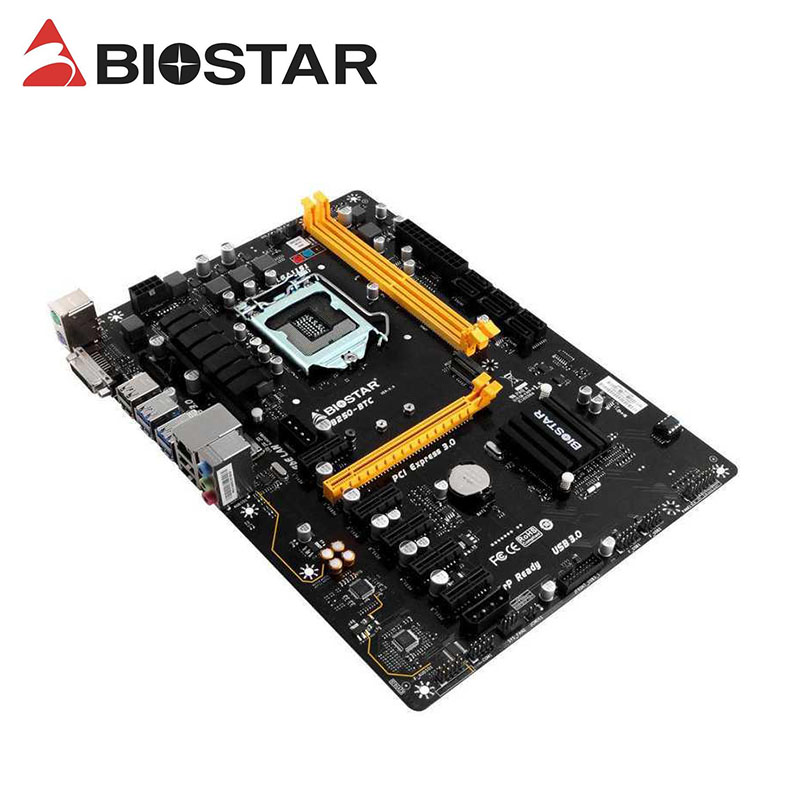 Материнские платы BTC BIOSTAR TB250-BTC 6PCIE B250 LGA 1151 DDR4 ATX BTC, материнская плата для майнинга (альтернатива B250 PRO Mining EXPERT)
