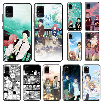 japan Koe no Katachi Anime Phone case For Samsung Galaxy S 3 4 5 6 7 8 9 10 Plus Lite Edge black soft bumper painting cover 3D image