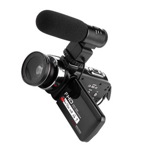 Image 4 - 16X Digital Zoom Video Camera Camcorder 1080P HD WIFI Wide Angle Lens/Outer Microphones Remote Control