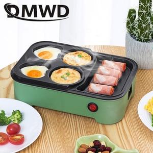 Image 5 - DMWD Điện Trứng Rang Hamburger Máy Đậu Đỏ Bánh Máy Làm Bánh Crepe MINI Bánh Pancake Nướng Chiên Trứng Trứng Tráng Chảo Chiên EU