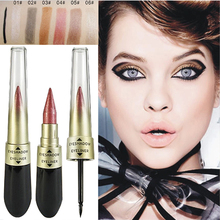 Hot Professional Long Lasting Shimmer  Eye Shadow Sticker Eyes Waterproof Glitter Eyeshadow 2 In 1 Makeup тени для век