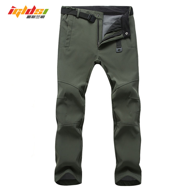 Stretch Waterproof Casual Pants Men Winter Warm Fleece Shark Skin Long Trousers Sweatpants Men's Tactical Army Work Pants S-3XL