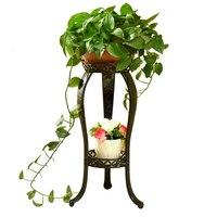 철 아트 플라워 랙 랜딩 타입 발코니 거실 지상 화분 Chlorophytum 고기 꽃 Airs 스타일