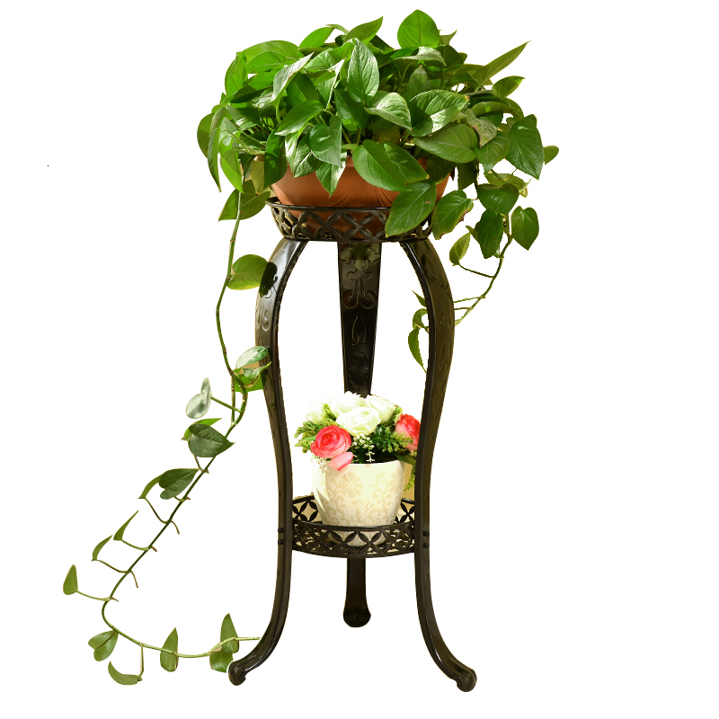 Iron Art Flower Rack Landing Type Balcony A Living Room Ground Flowerpot Chlorophytum Meaty Flower Airs Style
