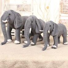 Joli éléphant debout de 80cm, simulation d'animaux en peluche vivants, modèle pouvant monter, poupée en peluche, jouets pour enfants, cadeau