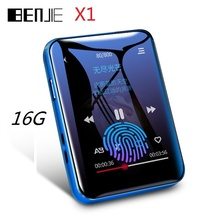 BENJIE X1 reproductor MP3 con Bluetooth, Mini reproductor de música con pantalla táctil de 16GB, compatible con Radio FM E book