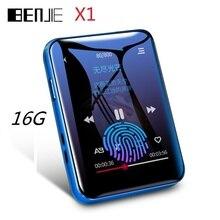 Najnowszy BENJIE X1 Bluetooth odtwarzacz MP3 16GB Mini ekran dotykowy odtwarzacz muzyczny obsługa radia FM E book odtwarzacz wideo wbudowany głośnik