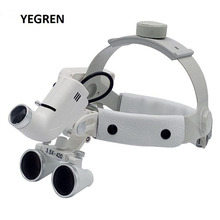 3.5X Helmet Dental Loupe LED Surgical Loupes Spotlight White Headband Magnifier Rechargeable Headlight for Medical Dentist