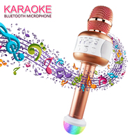 Professional Wireless Karaoke Microphone Bluetooth Speaker Mikrofon Handheld Mic Party KTV Singing Support for Smartphones